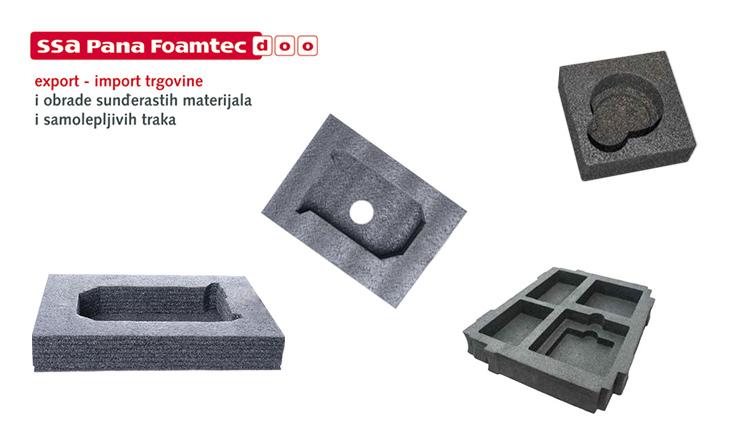 Sunđeri po meri, antistatički za pakovanje osetljive robe proizvođača sunđera SSA Pana Foamtec doo iz Bačke Topole.